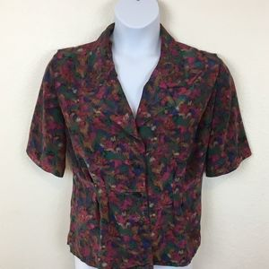 Handmade Vintage Princess Seam 80s Blouse SZ Large